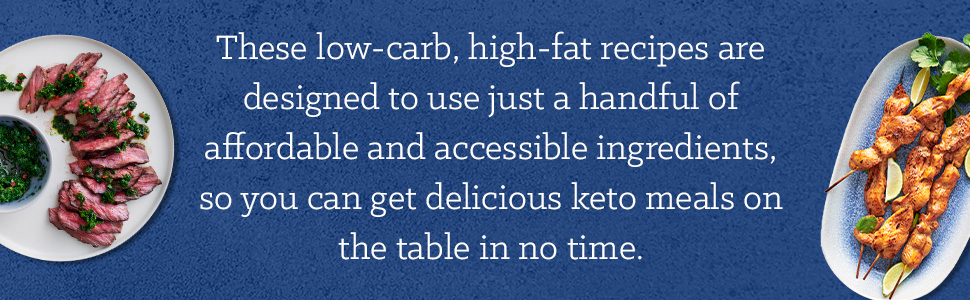 These low-carb, high-fat recipes are designed to use a handful of affordable & delicious keto meals.