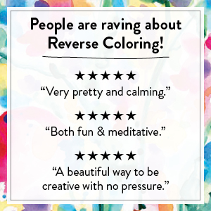 reverse color book activity gift adult draw