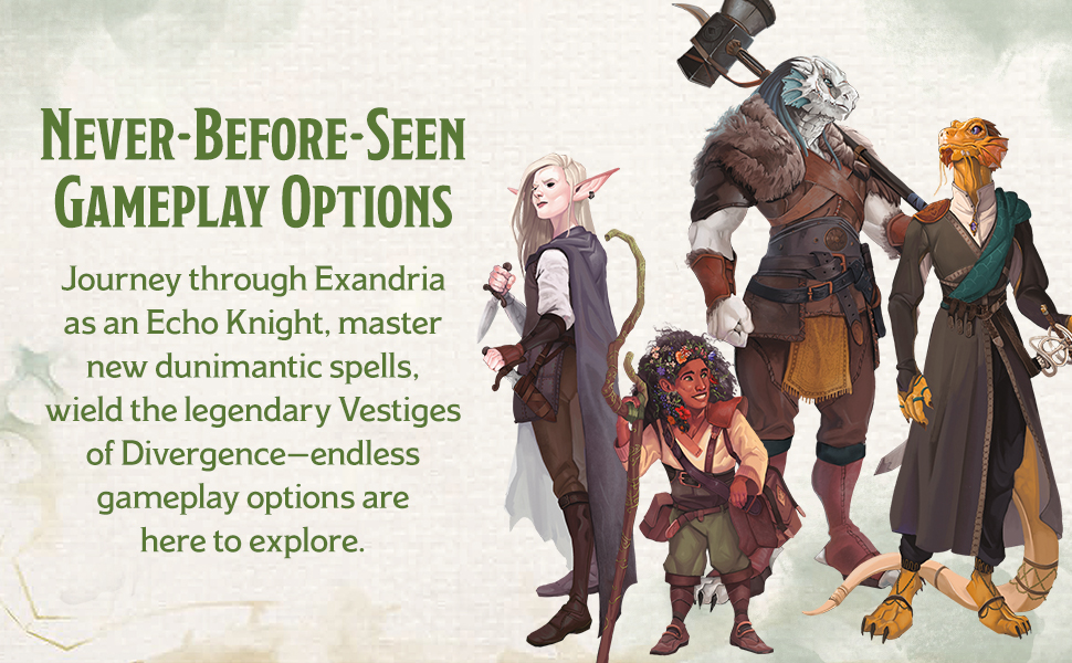 Official Critical Roll vestiges of divergence races and classes for dungeons and dragons