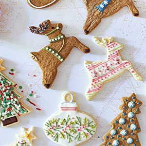 holiday cookies, holiday baking, cookie decorating, piping, christmas, dessert