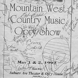 Signed program from one of Brandi Carlile's earliest performances