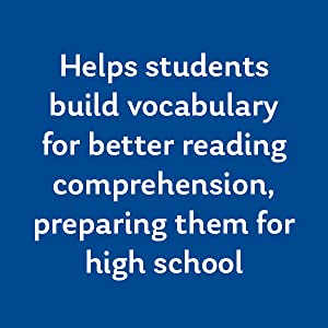 Helps students build vocabulary for better reading comprehension, preparing them for high school.