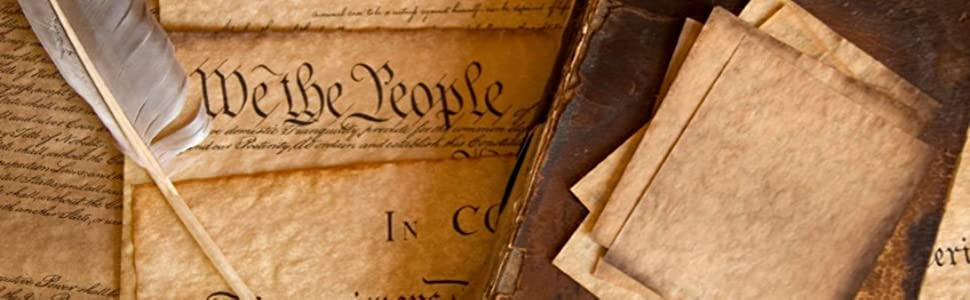 Parchment of the United States Constitution and Declaration of Independence