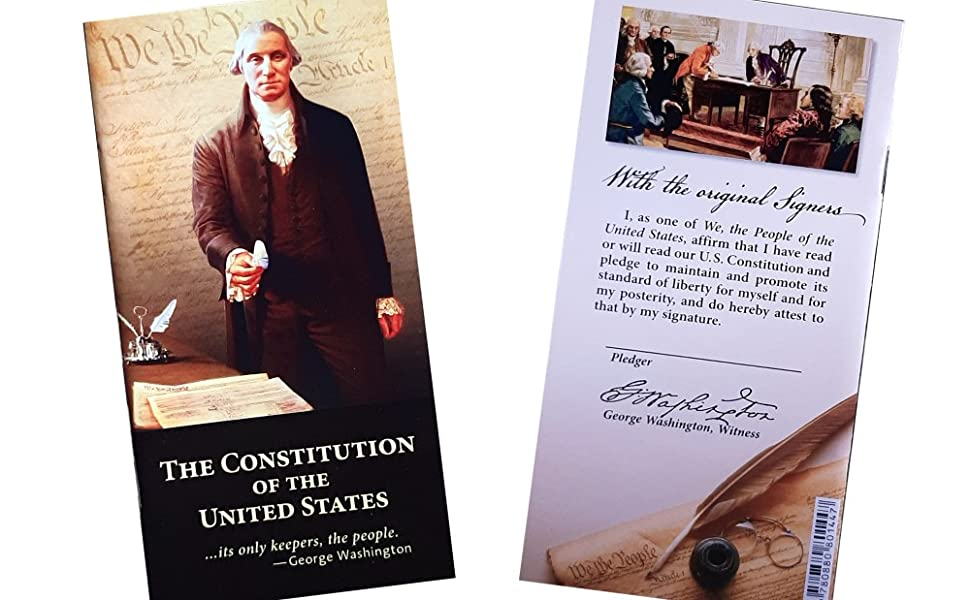 Pocket-sized United State Constitution and Declaration of Independence with Bill of Rights
