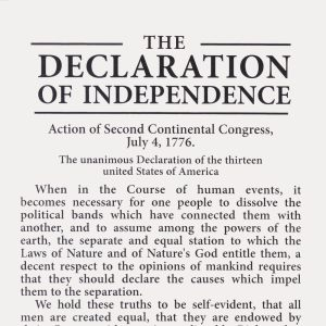 Includes the Declaration of Independence