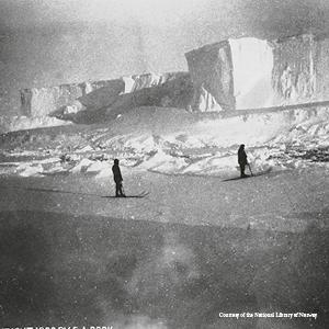 An excursion to an iceberg not far from the Belgica Courtesy of the National Library of Norway