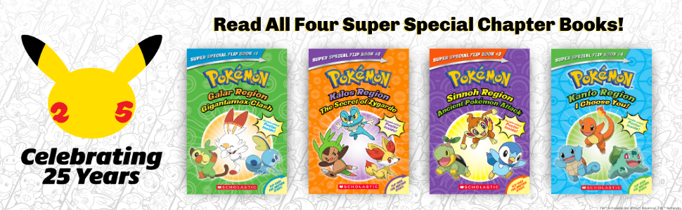 Celebrating 25 years - read all four super special chapter books!