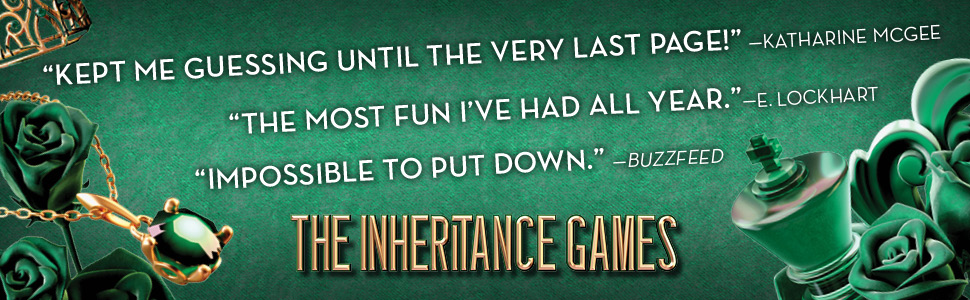 """""""Kept me guessing until the very last page!""""   THE INHERITANCE GAMES by Jennifer Lynn Barnes"""