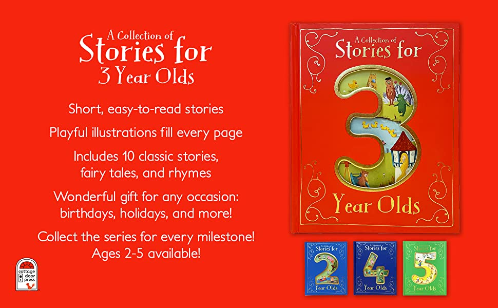 collection of stories for 3 three year old fairytales nursery rhymes childrens hardcover book
